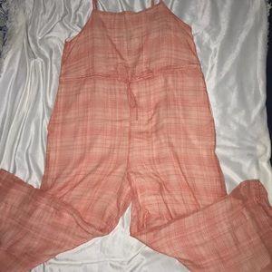 coral jumpsuit
